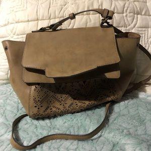 Brown suede Rustic looking purse